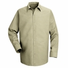 SP16LT Long Sleeve Men's Light Tan Specialized Pocketless Shirt