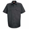 ST62CH Short Sleeve Charcoal Utility Work Shirt (formerly Big Ben)