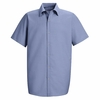 SP26LB Men's Light Blue Short Sleeve Specialized Pocketless Shirt