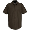 SP24CB Men's Chocolate Brown Short Sleeve Industrial Work Shirt