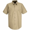 SP24KK Men's Khaki Short Sleeve Industrial Work Shirt