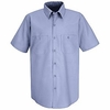 SP24LB Men's Light Blue Short Sleeve Industrial Work Shirt