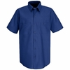 SP24RB Men's Royal Blue Short Sleeve Industrial Work Shirt