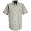 SP24SV Men's Silver Grey Short Sleeve Industrial Work Shirt