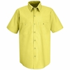 SP24YE Men's Yellow Short Sleeve Industrial Work Shirt