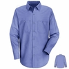 SC10LB Long Sleeve Light Blue 100% Cotton Shirt