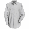 SP50CW Long Sleeve White/Charcoal Striped Dress Uniforms Shirt