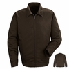 JT22BN Brown Slash Pocket Jacket