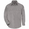 SLU8GY Men's Grey Excel-FR ComforTouch 6 oz. Uniform Shirt