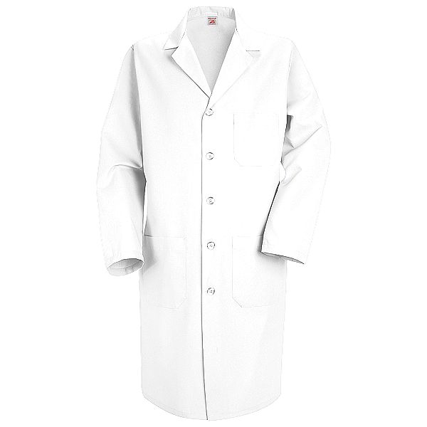 KP14WH Men&39s White Red Kap Lab Coat