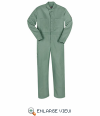 CEW2VG  EXCEL-FR� Visual Green Gripper Front Coverall