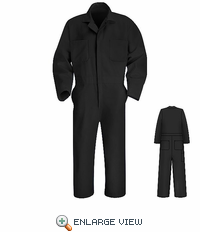 CT10BK Black Twill Action Back Coverall