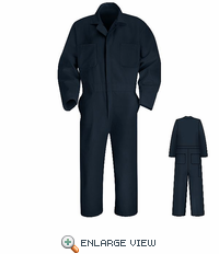CT10NV Navy Twill Action Back Coverall