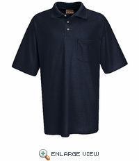 SK22NV Short Sleeve Navy Performance Knit® 50/50 Blend Jersey Shirt - Discontinued