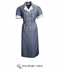 9S01NV Navy Double Breasted Lapel Dress