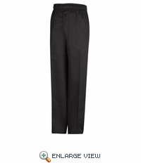 PT55BK Black Baggy Chef Pant With Zipper Fly