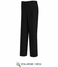PW19BK Women's Black Plain Front Dress Slacks - Discontinued
