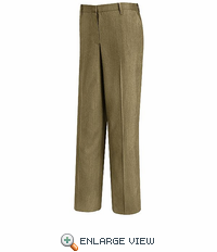 PW19KH Women's Khaki Plain Front Dress Slacks - Discontinued