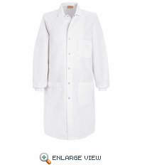 KP72WH White Specialized Cuffed Lab Coat With Inside Pocket
