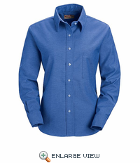SR75FB Long Sleeve Women's French Blue Executive Button-Down Shirt