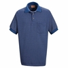 SK30 Performance Knit Polyester Metroplaid Polo Shirt (5 Colors)