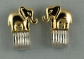 Two Tone Elephant Earrings