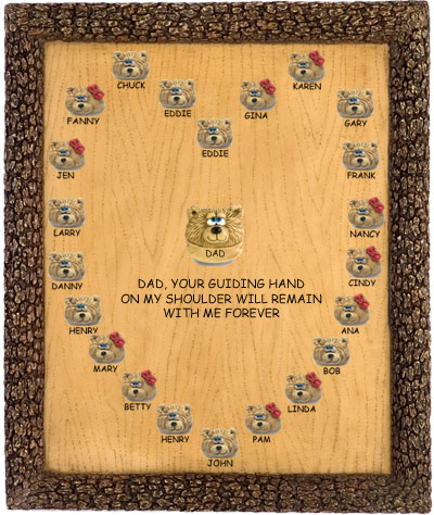 Unique Personalized Teddy Bear Plaque Gift