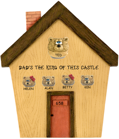 I-Create Plaques: 1-13 Teddy Bears in House