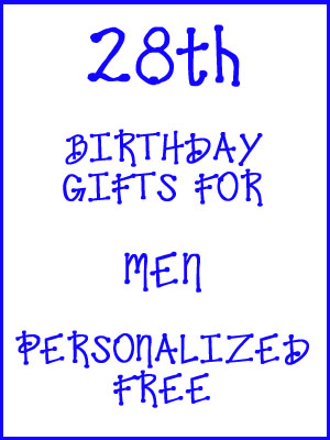 28th Birthday Gifts Personalized For Men