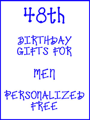48th Birthday Gifts Personalized For Men