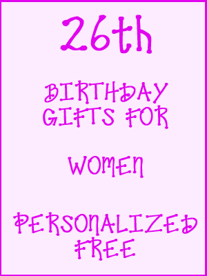 26th Birthday Gifts Personalized For Women