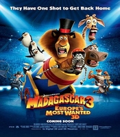 Arabic cartoon dvd MADAGASCAR 3 Europe's Most Wanted 2012  the latest one very funny proper arabic
