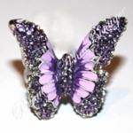 CELEBRITY MARIAHS FAVE ENAMEL PURPLE  LAVENDER CZ BUTTERFLY RING