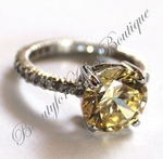 STERLING SILVER QUEEN ANNE ENGAGEMENT CZ RING