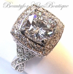 DESIGNER INSPIRED MASTERPIECE CLEAR CZ RING