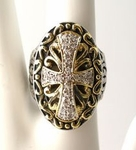 KONSTANTINO INSPIRED STERLING SILVER CROSS RING