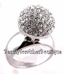 KATY PERRY FAVORITE SNOWBALL CLEAR CRYSTALS RING