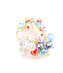 MULTI COLOR BEADED CRYSTAL STRETCH RING