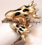BEAUTY FOR ASHES MOM & BABY CRYSTAL ANIMAL GIFAFFE RING