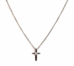 Sterling Silver Prayer Cross Necklace