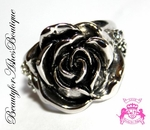 ROSE OF SHARON CLASSIC VINTAGE ANTIQUE FLOWER  RING