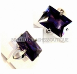 AMETHYST CUBIC ZIRCONIA COCKTAIL RING