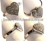 DESIGNER INSPIRED STERLING SILVER CLEAR CZ HEART RING