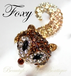 BEAUTY FOR ASHES CRYSTALS FOXY LADY FOX STRETCH RING