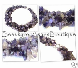 VENUS ROCK ON AMETHYST STONE NECKLACE RING and TOGGLE