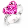 Win Her Heart Pink Cubic Zirconia Ring