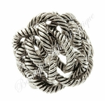ROPE INSPIRED ANTIQUED PLATED TWISTED UP KNOT RING