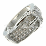 DESIGN INSPIRED PREMIER CLEAR CZ BELT BUCKLE RING