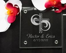 Christening Personalized Coasters Favors