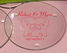 Elephant Personalized Coasters Favors